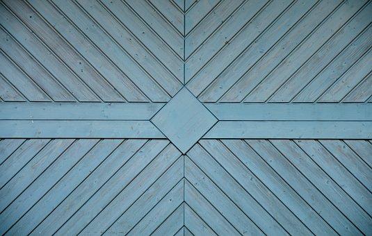 Garage Door, Texture, Wooden Wall, Panels, Background