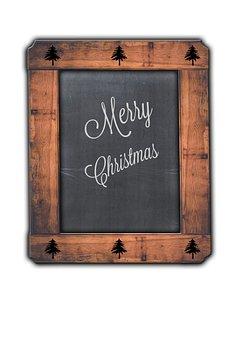 Merry Christmas, Blackboard, Rustic, Chalk, Vintage