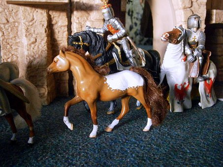 Toys, Play, Middle Ages, Build, Scene, Conquest, Fight