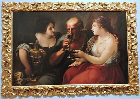 Wine, Painting, The Framework, Woman, Man, Drink, Frame