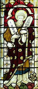 Moses, Ten Commandments, 10, Bids, Church, Ten, Window