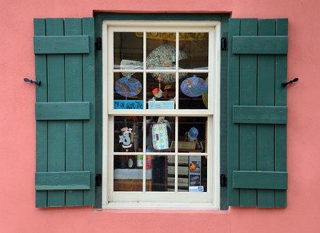 Old Window, Store, Shop, Window Frame, Shutters