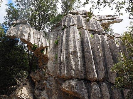 Rock, Limestone, Limestone Rock Formation
