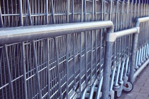 Shopping Cart, Arrangement, Supermarket, Shopping