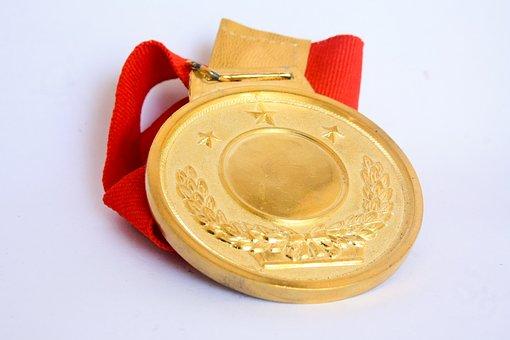 Medal, Award, Gold, Success, Achievement, Winner