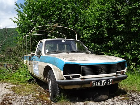 Decay, Peugeot, French, France, Pickup, Spotlight