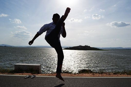 Kick, Martial Arts, Warrior, Crecent Kick, Jump, Boy