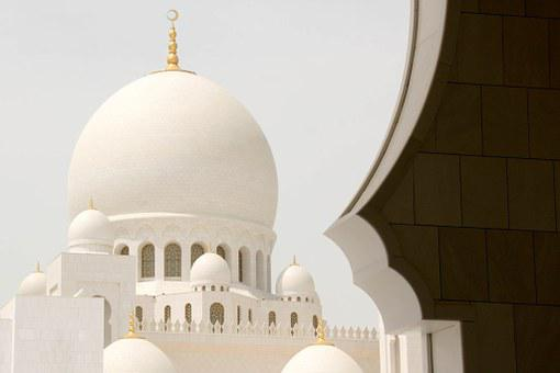 Mosque, Abu Dhabi, White, Arabic, Emirates, U A E
