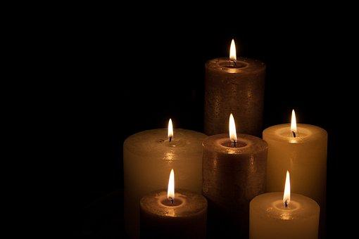 Candles, Christmas, Dark, Light, Hot, Fire, Group, Love