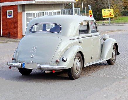 Auto, Oldtimer, Mercedes, Limousine, Classic