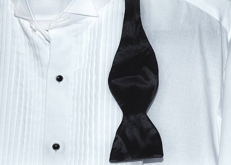Tux, Shirt, Bow Tie, White, Formal, Clothing, Tuxedo