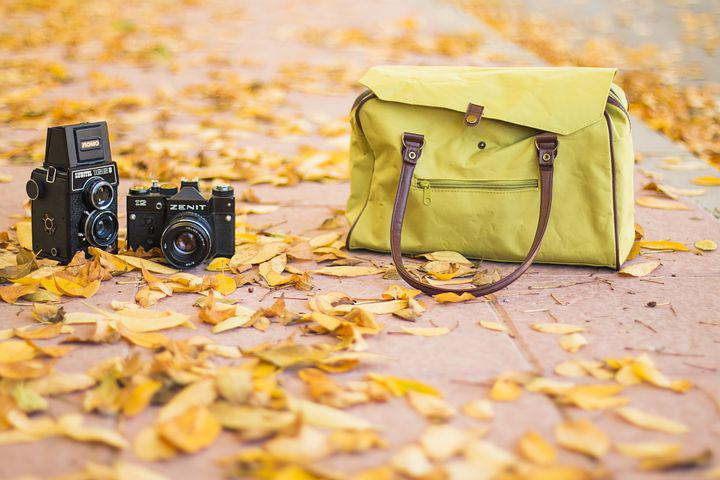 Photography, Vintage, Autumn, Fall, Hipster, Cameras