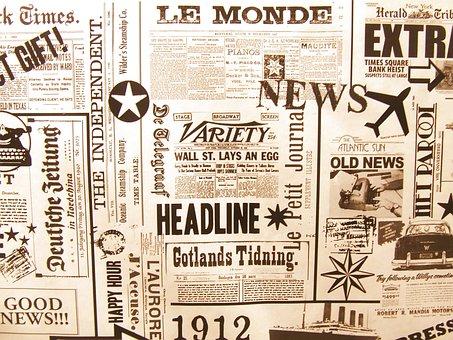 Newspaper, Le Monde, Background, Old, France, World