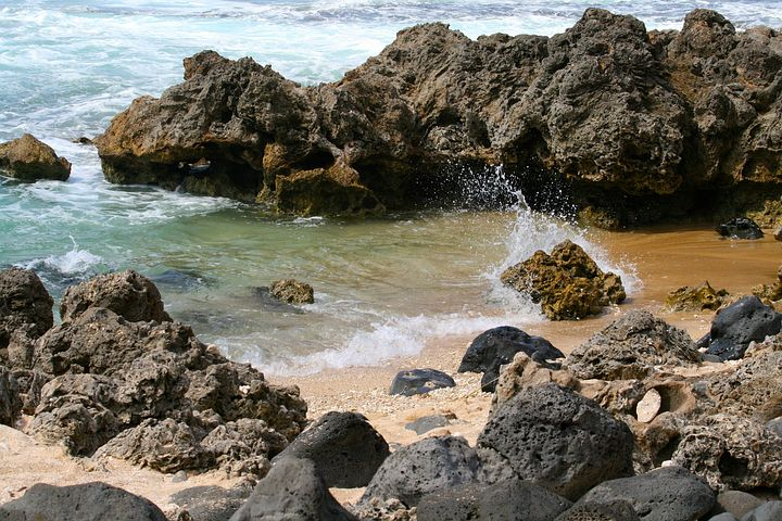 Tide, Pool, Shallow, Water, Ocean, Beach, Low, Rock