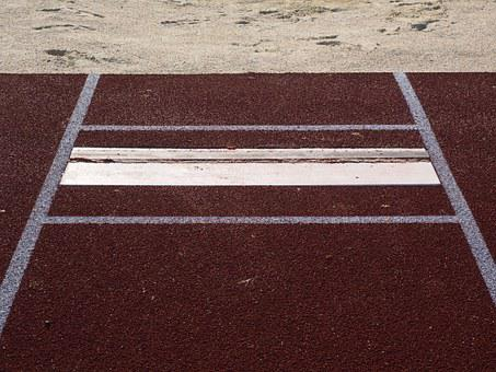 Long Jump, Jump, Pit, Sand, Mark, Absprung Board