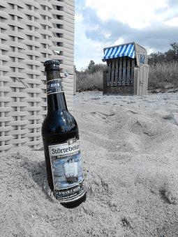 Beach, Sand, Island, Poel, Beach Chair, Sky