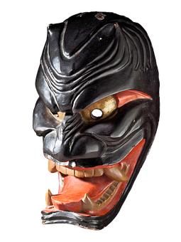 Demon Mask, Mask, Japanese, Demon, Japan, Antique