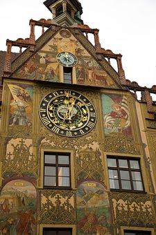 Ulm, Town Hall, Mural, Painting, Ulmer Hall, Frescoes