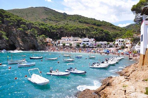 Summer, Spain, Sun, Sea, Nature, Dyed, View, Beach