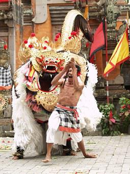 Barong, Bali, Dance, Theater, The Ritual, The Demon