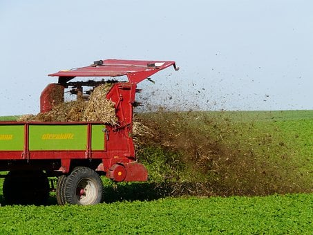 Fertilize, Crap, Field, Agriculture, Tractor, Dung