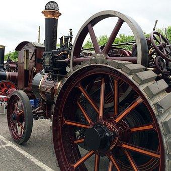 Tractor, Steam, Old, Machine, Industrial, Vehicle