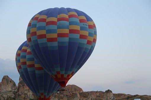 Balloon, Cappadocia, Sky, Freedom, Fly, See, Oktay