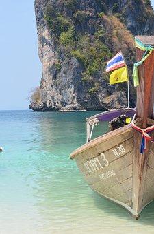 Beach, Wooden Boat, Cottage, Boat, Ocean, Summer