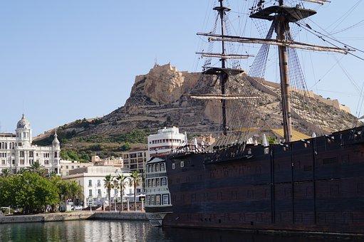 Alicante, Blue Sky, Spain, Summer, Sun, Holiday, Boot