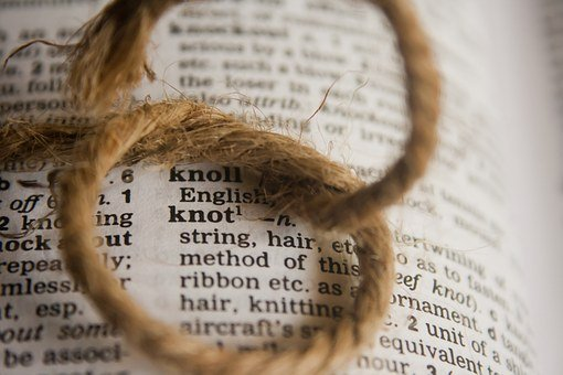 Knot, Dictionary, Word, Definition, Text, Page, Book