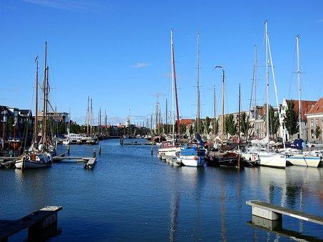 Boot, Ship, Port, Marina, Channel, North Sea, Lake