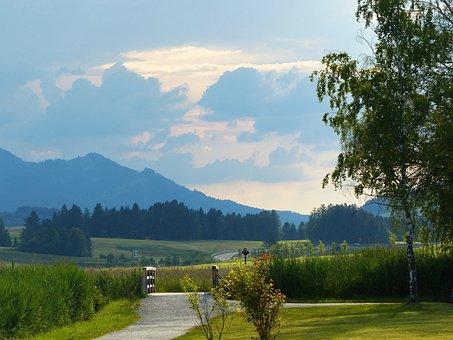 Gewitterstimmung, Clouded Sky, Lake, Hopferau, Light