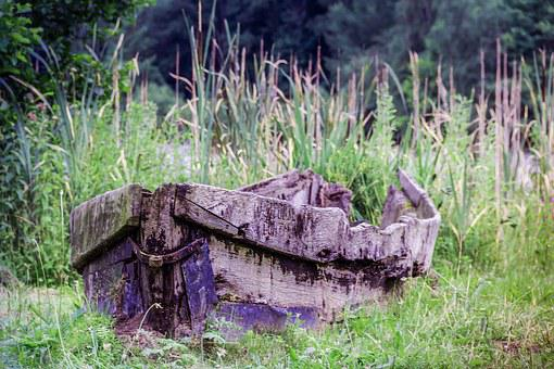 Old Boat, Rotten Boat, Rowing Boat, Wooden Boat, Water