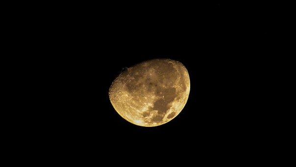 Moon, Satellite, Sky, Night, Astronomy, Space, Luna