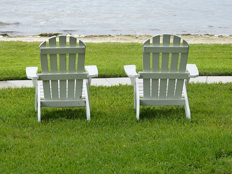 Adirondack Chairs, Lake, Relaxing, Wooden Chairs