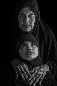 Mrs, And, Grandchildren Ethnic Look, Family, Generation