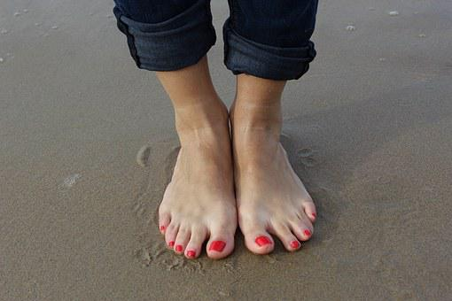 Beach, Holiday, Wellness, Feet, Bless You, Wet, Ankles