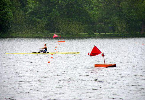 Rowing, Baldeneysee, Eat, Competition, Target, One