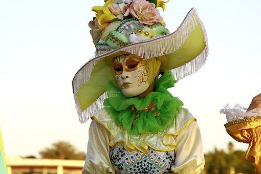 Hat, Costume, Women's, Old Fashion, Fashion, Scarf