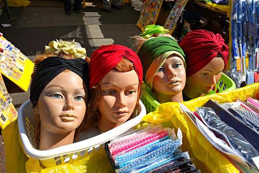 Head, Doll, Model, Woman Head, Hat Model, Fashion