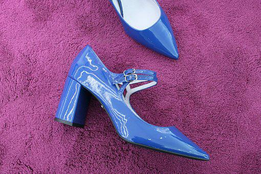 Shoes, For Women, Shuttles, Heels, Blue