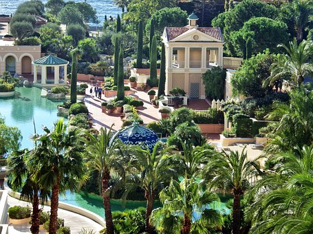 Hotel, Swimming Pool, Monaco, Luxury, Pool, Palm