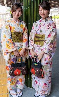 Japan, People, Person, Women, Kimonos, Young, Asian