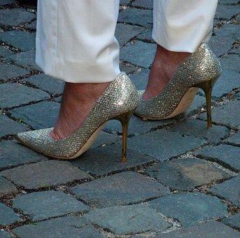 Ladies, Elegant, Woman, Shoe, Women, High, Leather