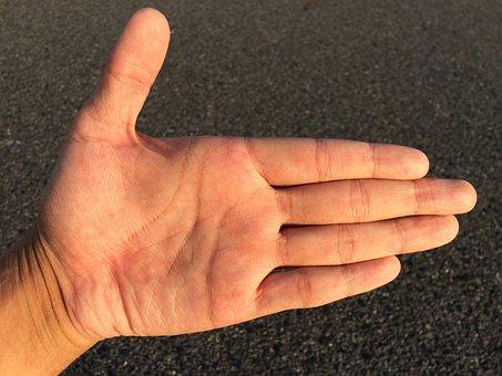 Hand, Finger, Skin, Palm, Male, Women, Man, Woman