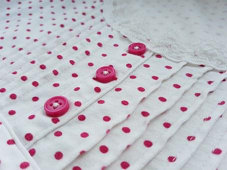 Button, Shirt, Pink, White, Neck, Clothes, Clothing