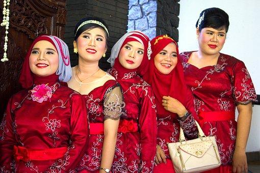 Fashion, Java, Traditional, Indonesia, Red, Wedding