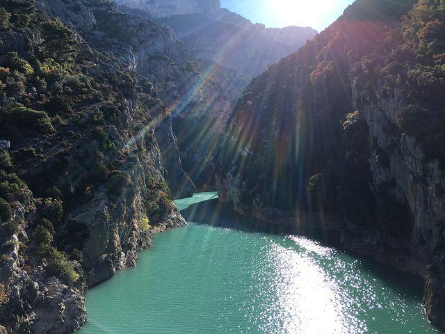 Water, Canyon, Sun, Enormous, Rock, Gorge, Deep