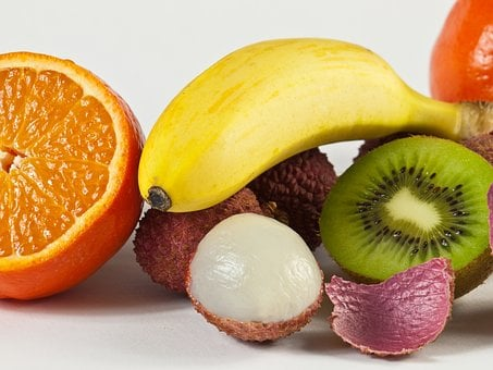 Tropics, Fruits, Tangerines, Oranges, Kiwi, Fruit Salad