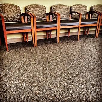 Chairs, Row, Office, Waiting, Room, Brown, Carpet